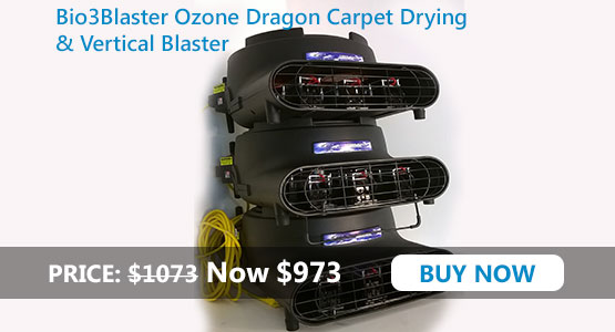 OZONE DRAGON Carpet Drying and Vertical blaster