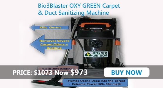 OXY GREEN Carpet Sanitizing/Deodorizing Machine
